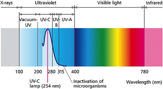 uvc spectrum